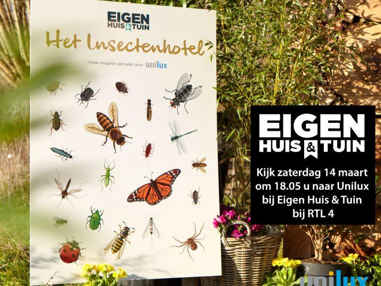 Unilux bouwt een groot insectenhotel